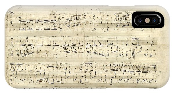 Old Music Notes - Chopin Music Sheet IPhone Case
