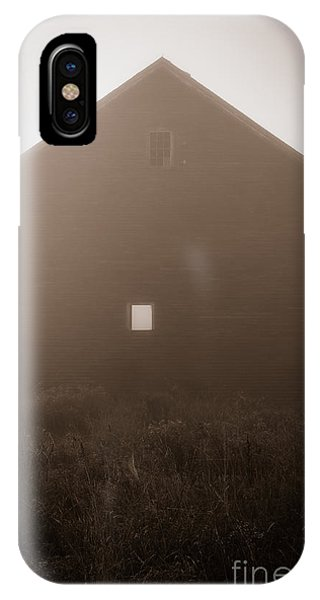 New England Barn iPhone Case - Old Nutt Barn In The Fog by Edward Fielding