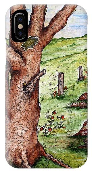 Old Oak Tree With Birds' Nest IPhone Case