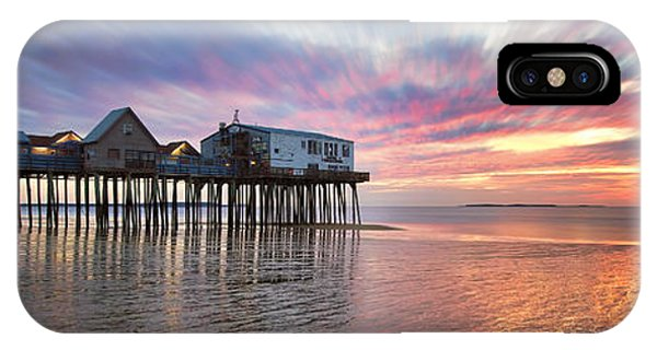 Orchard Beach iPhone Case - Old Orchard Beach Panorama by Eric Gendron