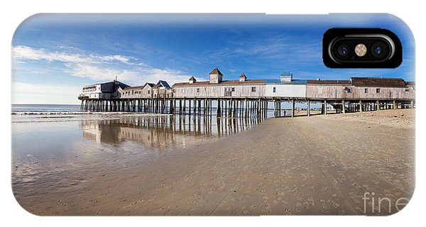 Orchard Beach iPhone Case - Old Orchard Beach Panorama by Jane Rix