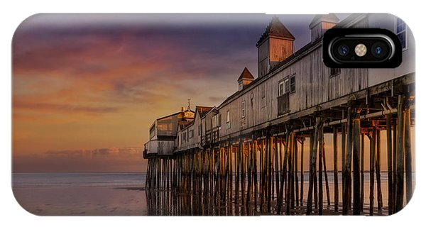 Orchard Beach iPhone Case - Old Orchard Beach Pier Sunset by Susan Candelario