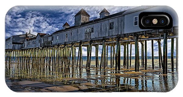 Orchard Beach iPhone Case - Old Orchard Beach Pier by Susan Candelario