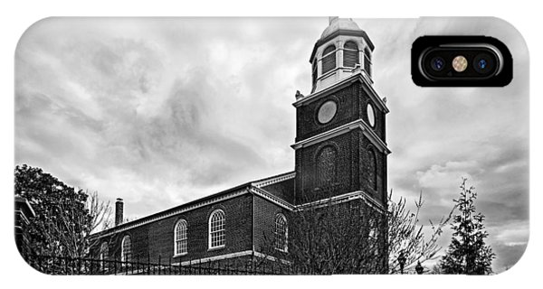 Old Otterbein Church In Black And White IPhone Case