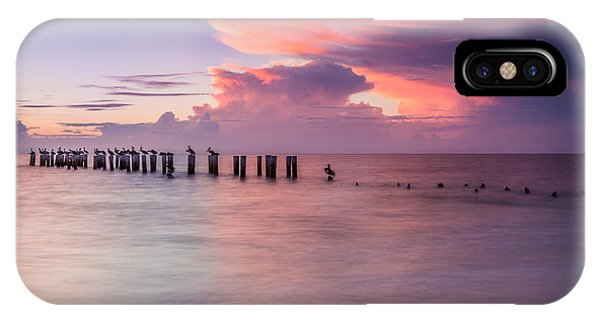 Old Naples Pier Sunset IPhone Case