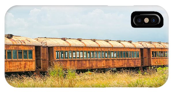 Old Railroad Passenger Cars IPhone Case