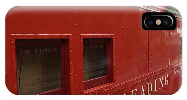 Red Caboose iPhone Case - Old Reading Rr Caboose In Lititz Pa by Anna Lisa Yoder
