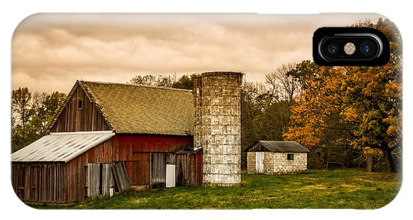 Old Red Barn And Silo IPhone Case