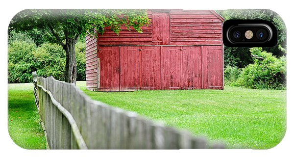 New England Barn iPhone Case - Old Red Barn Il by Laura Fasulo