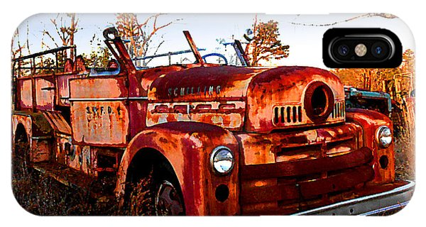 Old Red Fire Truck IPhone Case