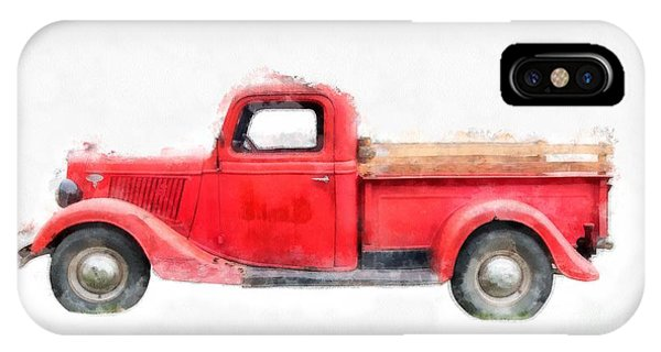 Auto Show iPhone Case - Old Red Ford Pickup by Edward Fielding