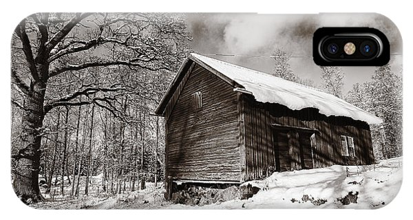 Old Rural Barn In A Winter Landscape IPhone Case
