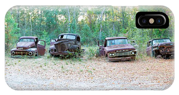 Wakulla iPhone Case - Old Rusty Cars And Trucks In A Field by Panoramic Images