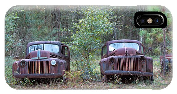 Wakulla iPhone Case - Old Rusty Cars And Trucks On Route 319 by Panoramic Images