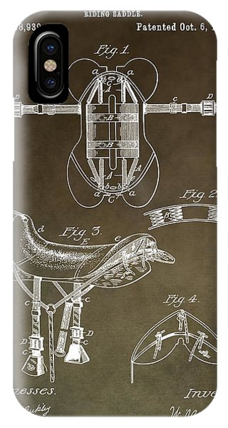 Old Saddle Patent IPhone Case