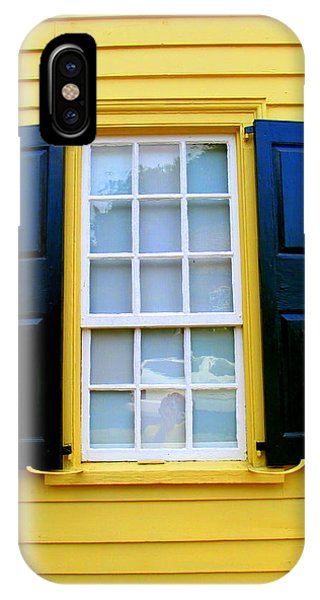 Old Salem Window Three IPhone Case
