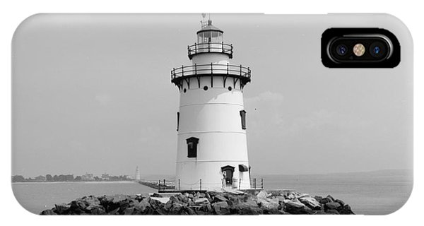 Lighthouse iPhone Case - Old Saybrook Connecticut Lighthouse by Edward Fielding