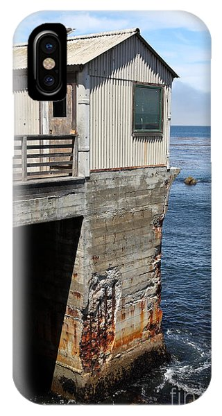 Monterey Bay Aquarium iPhone Case - Old Shack Overlooking The Monterey Bay In Monterey Cannery Row California 5d25062 by Wingsdomain Art and Photography