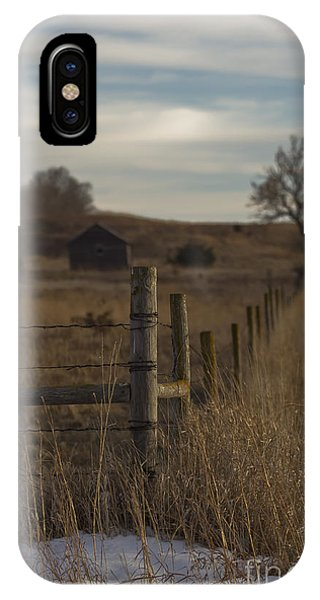 Rural Nebraska Fence  IPhone Case