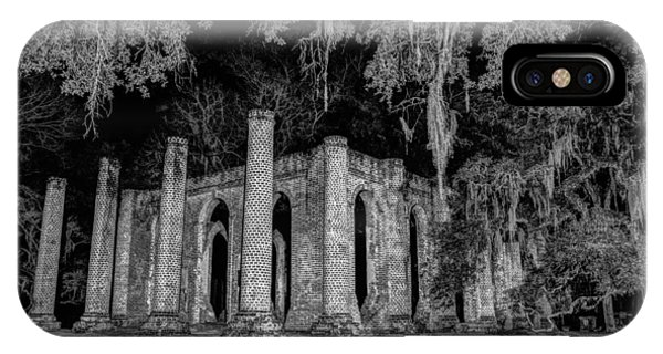 Old Sheldon Church At Night IPhone Case