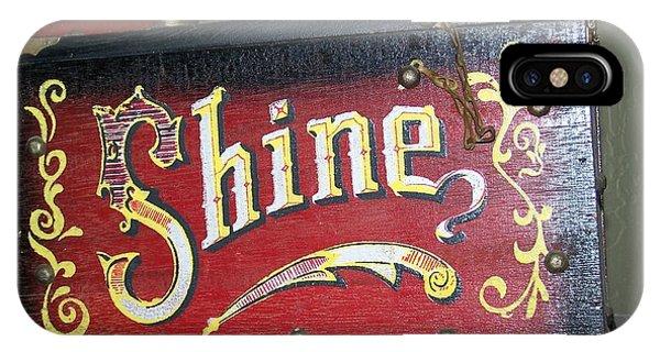 Old Shoe Shine Kit IPhone Case