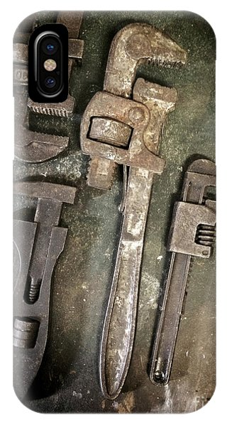 Ironwork iPhone Case - Old Spanners by Carlos Caetano