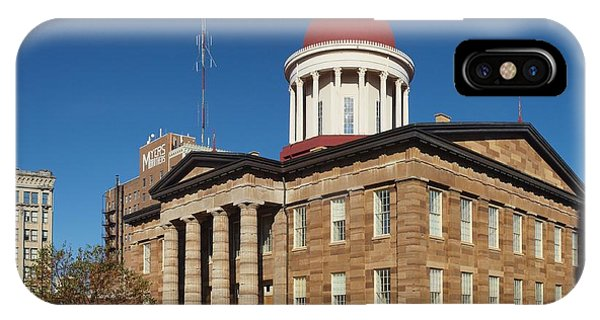 Old State Capital Springfield Illinois IPhone Case
