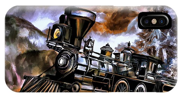 Old Steam Engine  IPhone Case