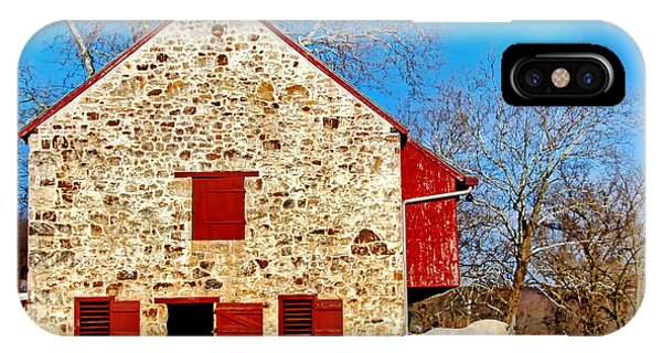 Old Stone Barn IPhone Case