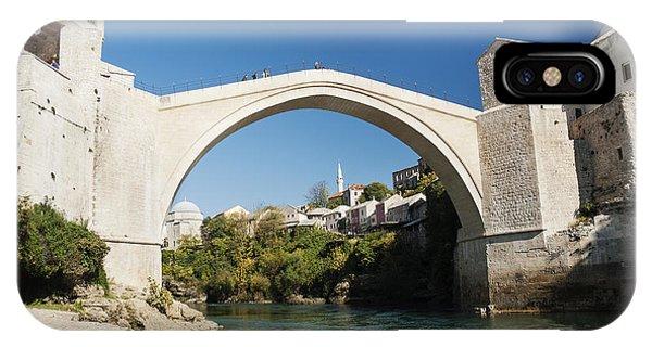 Mostar iPhone Case - Old Stone Bridge In Mostar Bosnia by Jacek Malipan