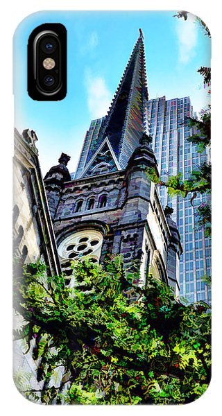 IPhone Case featuring the photograph Old Stone Church - Cleveland Ohio - 1 by Mark Madere