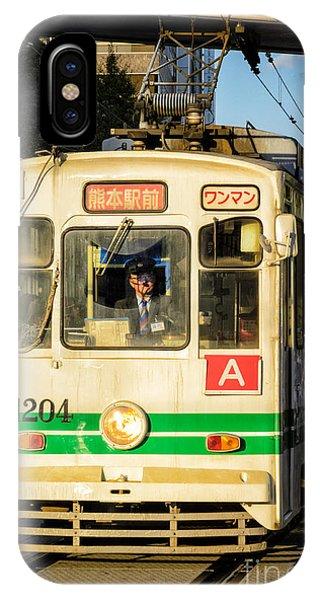 Old Streetcar In Kumamoto - Kyushu - Japan IPhone Case