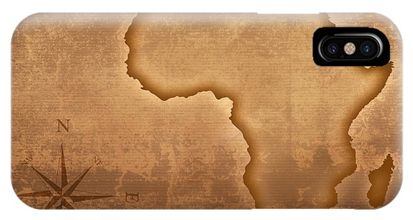 Old Style Africa Map IPhone Case