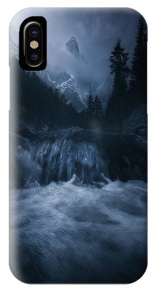 Flow iPhone Case - Old Style Dolomites by Luca Rebustini