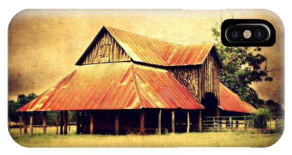 Old Texas Barn IPhone Case