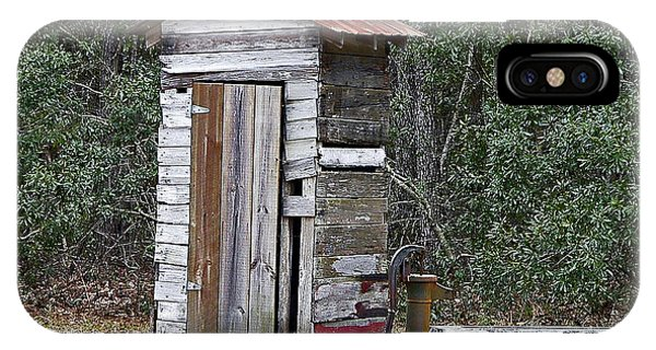 Toilet iPhone Case - Old Time Outhouse And Pitcher Pump by Al Powell Photography USA