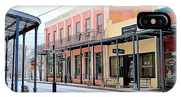 Old Towne Center Street IPhone Case