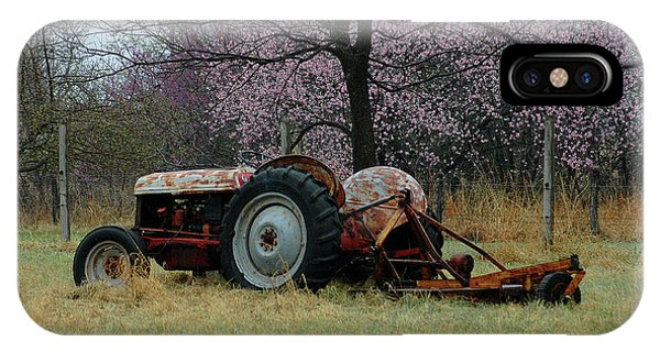 Old Tractor And Redbuds IPhone Case