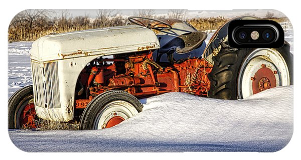 Old Tractor In The Snow IPhone Case