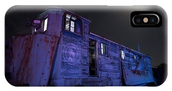 Old Train Trail Snow Plow IPhone Case