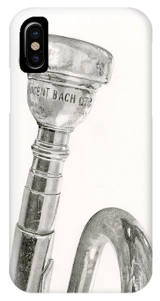 Trumpet iPhone Case - Old Trumpet by Sarah Batalka