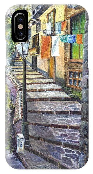 Old Village Stairs - In Tuscany Italy IPhone Case