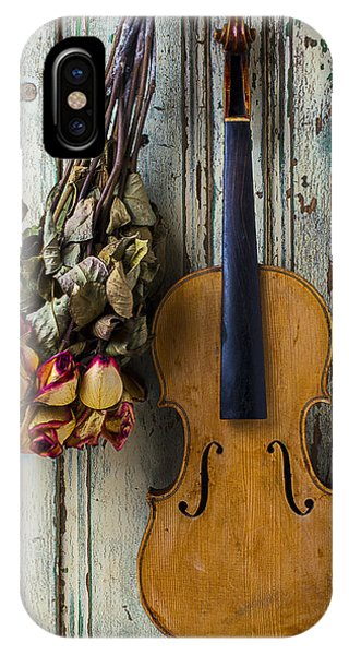 Old Violin And Dried Roses IPhone Case
