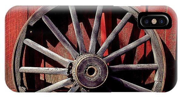 Wagon Wheel iPhone Case - Old Wagon Wheel by Garry Gay