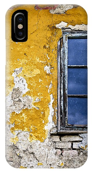 Window Pane iPhone Case - Old Wall In Serbia by Elena Elisseeva