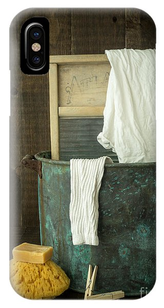 Old Washboard Laundry Days IPhone Case
