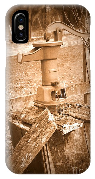 Old Water Pump Sepia IPhone Case
