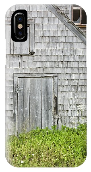 Old Weathered Building In Maine IPhone Case