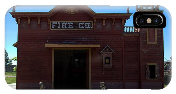 Old West Fire Station IPhone Case