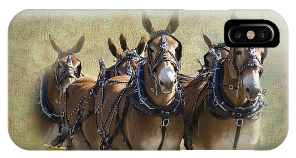 Old West Mule Train IPhone Case